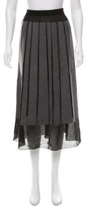 Viktor & Rolf Sheer-Paneled Virgin Wool Skirt