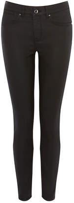 Karen Millen Mid-Rise Coated Skinny Jeans