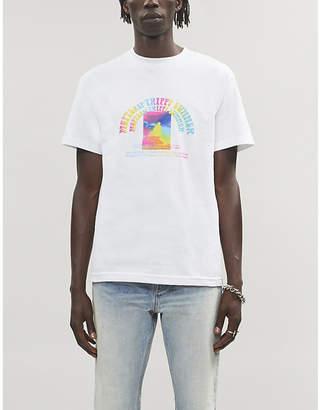 Selfridges Erys MSFTSREP logo-print tie-dye cotton-jersey T-shirt