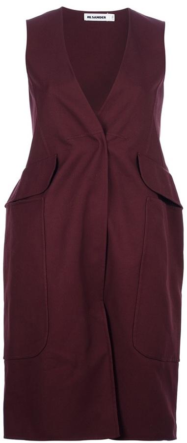 Jil Sander sleeveless jacket dress
