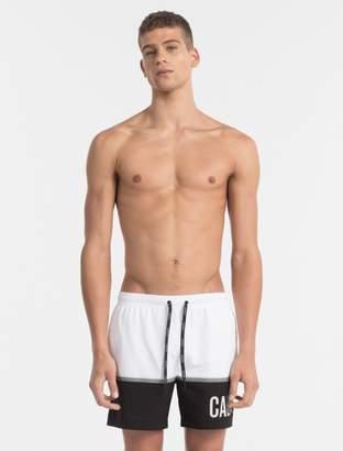 Calvin Klein intense power logo colorblock swim shorts