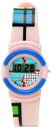 Timeco Plastic Mondrian Wristwatch
