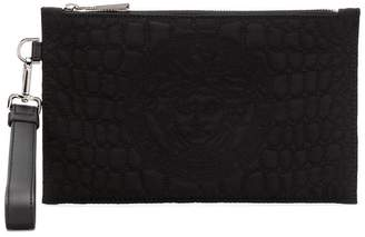 Versace embossed medusa pouch
