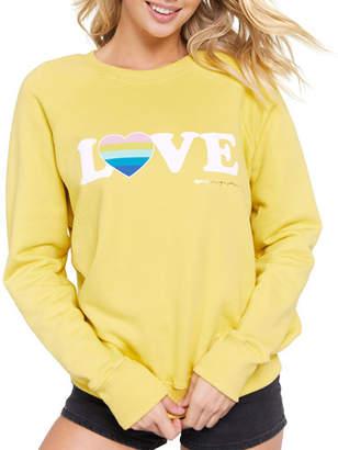 Spiritual Gangster Love Printed Long-Sleeve Sweatshirt
