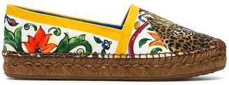 Dolce & Gabbana Majolica Leather Espadrilles