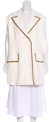 Agnona Elongated Button-Up Vest