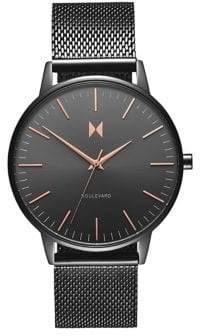 MVMT Boulevard Lincoln Stainless Steel Mesh Bracelet Watch