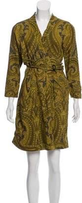 Chris Benz Paisley Print Wrap Dress