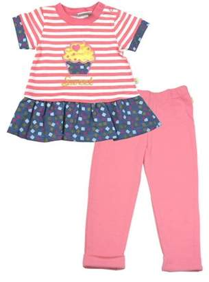 Duck Duck Goose Baby Girl Short Sleeve French Terry Top & Leggings, 2pc Outfit Set