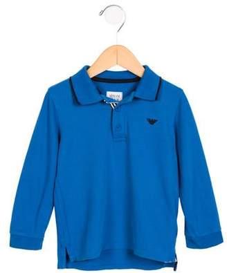 Armani Junior Boys' Long Sleeve Collared Shirt