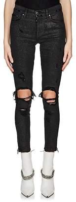 Amiri Women's Glitter Skinny Jeans