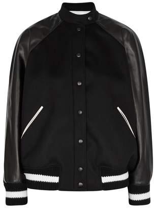 Valentino Logo-appliqued Wool-blend Bomber Jacket