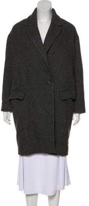 AllSaints Wool-Blend Knee-Length Coat