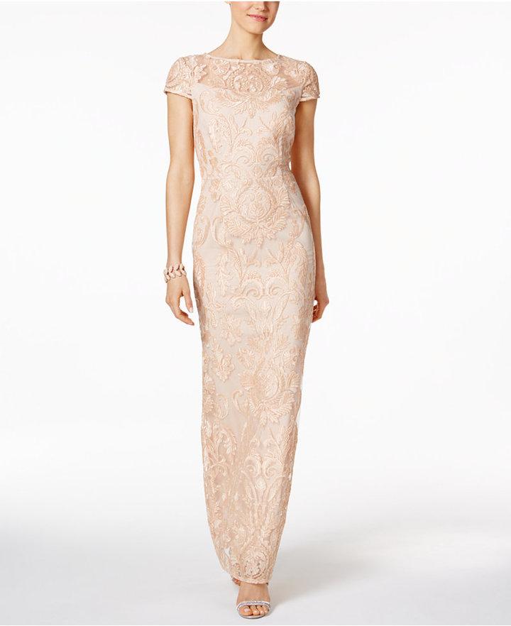 Alex EveningsAlex Evenings Lace Column Gown