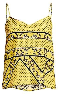 Ganni Women's Silk-Blend Print Camisole