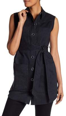 Laundry by Shelli Segal Belted Vest