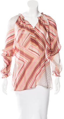 Robert Graham Long Sleeve Printed Blouse $85 thestylecure.com