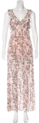For Love & Lemons Floral Print Maxi Dress