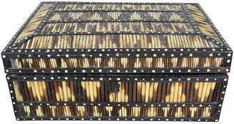 One Kings Lane Vintage Porcupine Quill Box - Schorr & Dobinsky