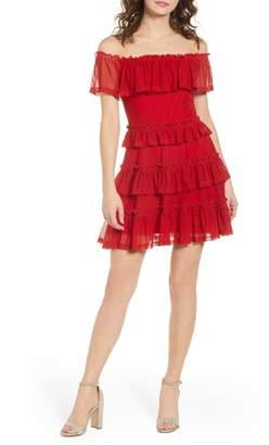 The Fifth Label National Ruffle Off the Shoulder Dress