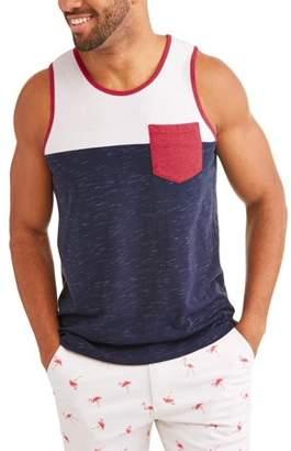 George Big Men's Color block Tank Top With Pocket