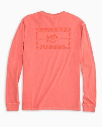Southern Tide Tonal Original Skipjack Garment Dyed Long Sleeve T-shirt