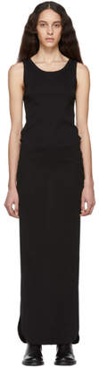 Ann Demeulemeester Black Unicotton Rib Dress