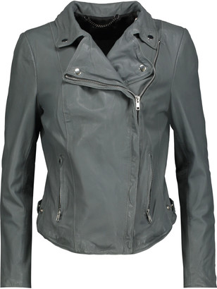 Muubaa Monteria leather biker jacket $527 thestylecure.com