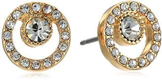 """Laundry by Shelli Segal Sunset Boulevard"""" Pave Stone Stud Earring"""