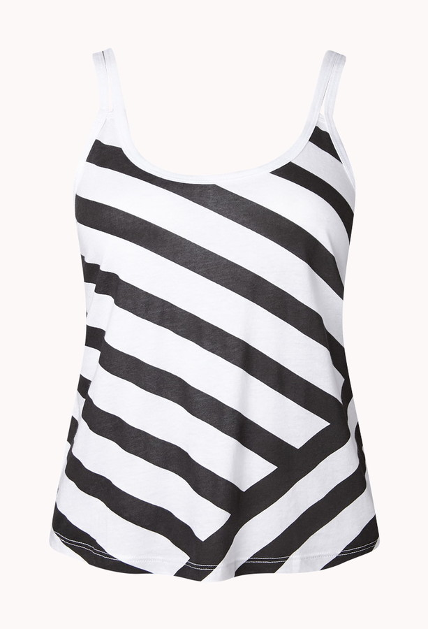 Forever 21 Active Striped Cutout Workout Tank