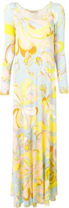 Emilio Pucci printed shift maxi dress