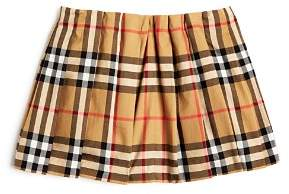 Burberry Girls' Mini Pearl Vintage Check Pleated Skirt - Baby