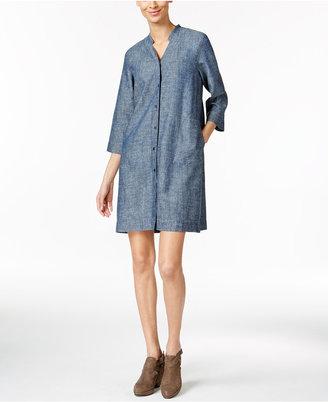 Eileen Fisher Hemp-Organic Cotton Chambray Shirtdress $218 thestylecure.com