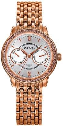 August Steiner Women's Rose Gold Tone Crystal Watch