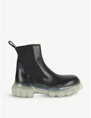 Rick Owens Tractor leather Chelsea boots