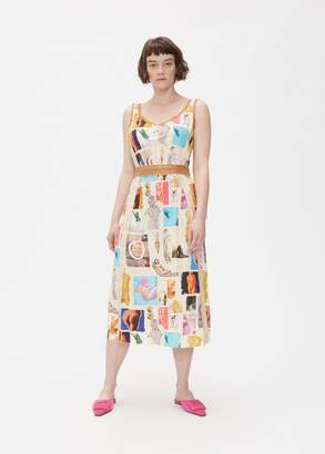 Marni Sleeveless Statue Print Dress