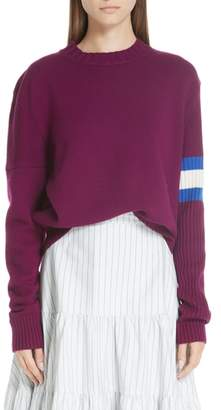 Calvin Klein Cashmere Stripe Sleeve Sweater