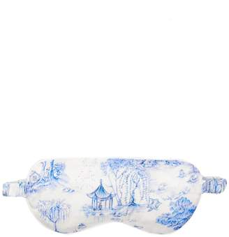 Derek Rose Brindisi 27 reversible silk satin eye mask