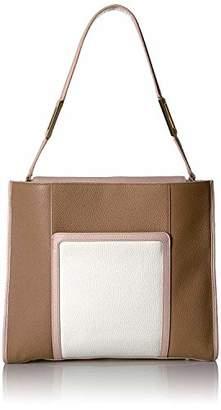 Margherita LUANA ITALY Women's Large N/S Tote Tri Color Pebble Leather Handbag