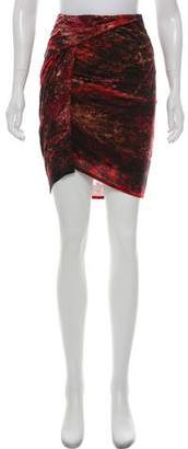 Helmut Lang Wool Tie-Dye Skirt w/ Tags