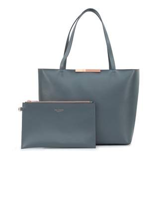 e06b1f30312b6 Ted Baker Soft Grain Leather Tote Bag Colour  CHARCOAL