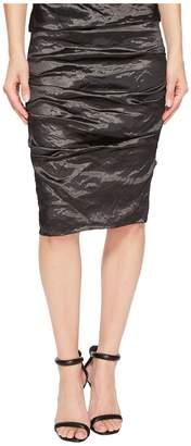 Nicole Miller Sandy Techno Metal Skirt Women's Skirt