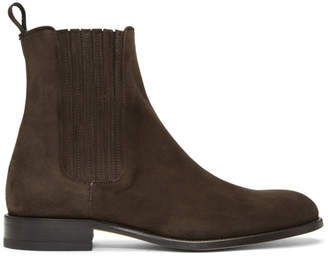 Brioni Brown Suede Chelsea Boots