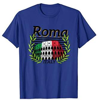 Colosseum Rome T Shirt Roma Italy Flag Clothing