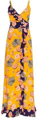 Racil Silk Geisha Floral Maxi Dress