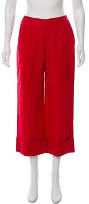 Reformation High-Rise Wide-Leg Cropped Pants