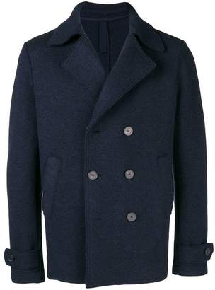 Harris Wharf London cropped peacoat