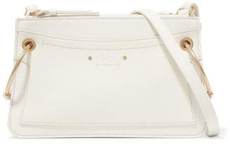 Chloé Roy Mini Leather And Suede Shoulder Bag - White
