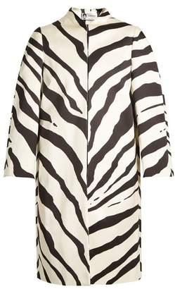 Lanvin (ランバン) - LANVIN Zebra-print collarless cotton-blend coat