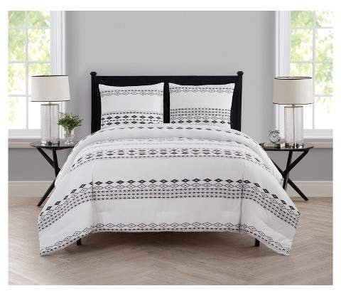 VCNY White Azteca Printed Comforter Set - VCNY®